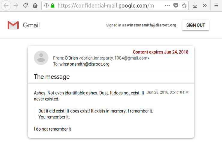 Archiving self-destructing Gmail messages with Firefox